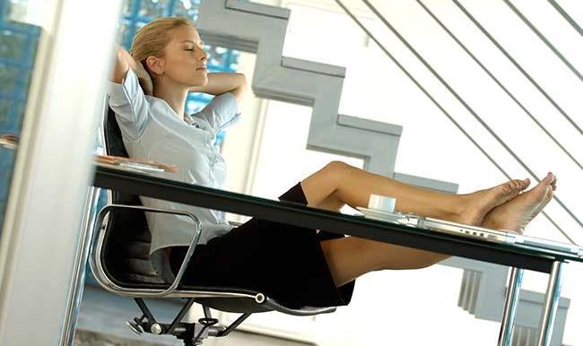 Busty blonde secretary fucks black guy on desk