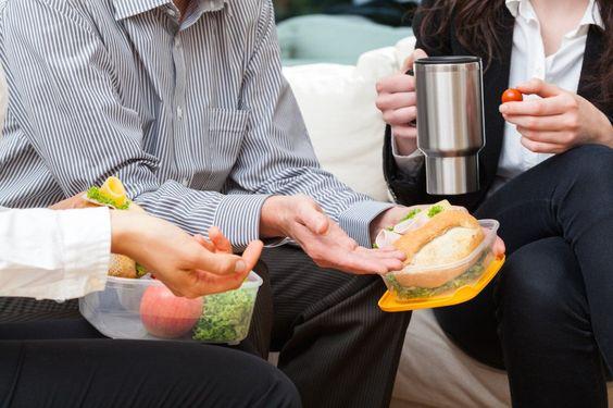 Неполезные пищевые привычки работающего человека